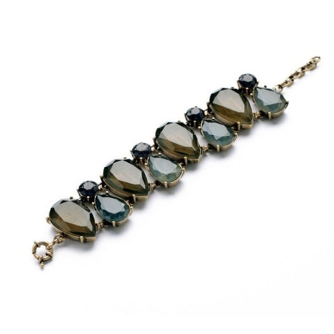 Dark Gem Stone Statement Bracelet