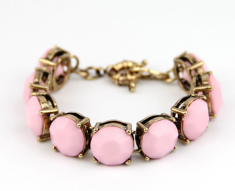 Light Pink Gem Stackable Bracelet