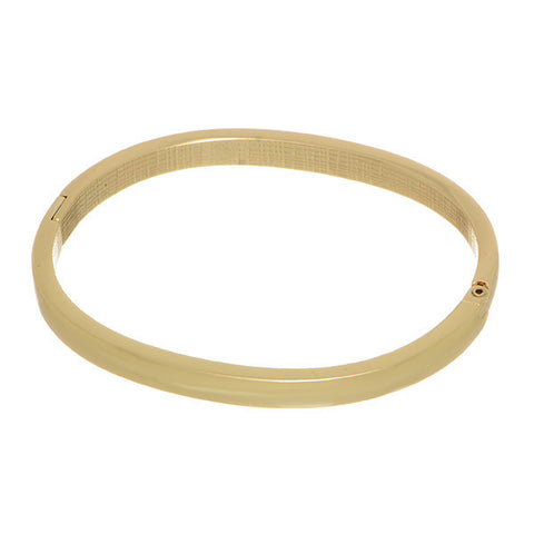 Simple Gold Bangle with Magnetic Closure