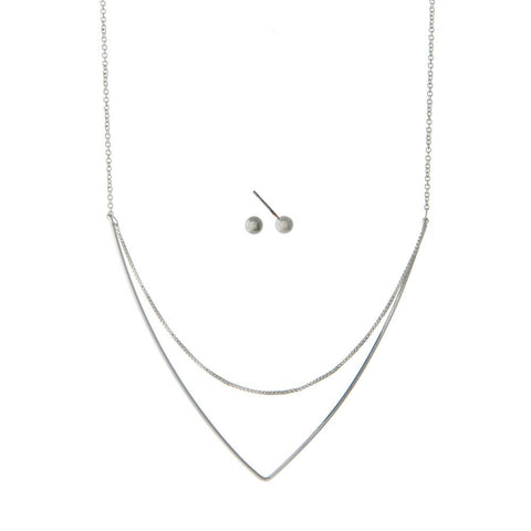 Delicate Triangle Necklace Set
