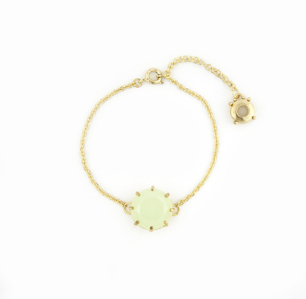 Mint Chain Bracelet in Gold Setting