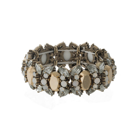 Rhinestone Stretch Bracelet - Clear