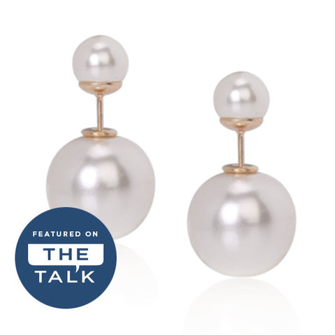 Double-Sided Studs in Pearl