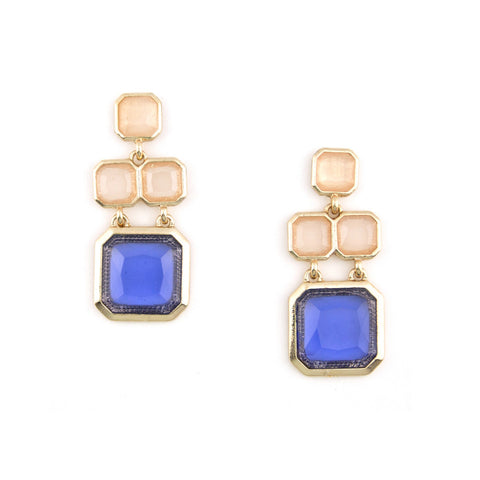 Cubed Gem Earrings