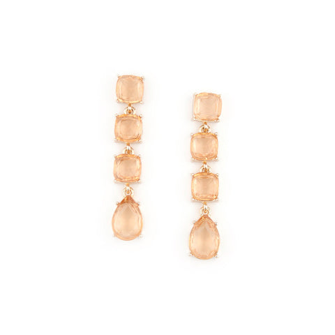Champagne Gem Drop Earrings