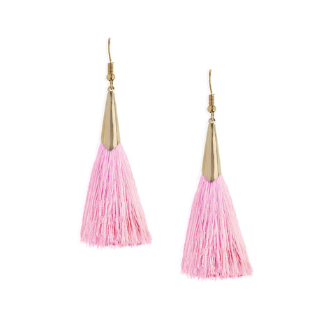 Marina Tassel Earrings in Pink