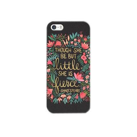 "iPhone 6s/6 Case - ""She is Fierce"" Black"