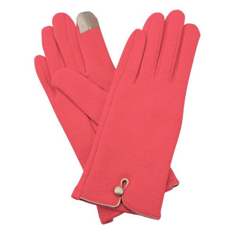 Hot Pink Fleece Lined Gloves
