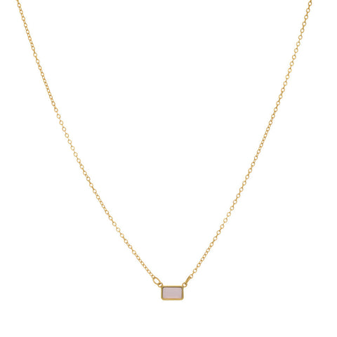 Tiny Pink Chalcedony Pendant Necklace