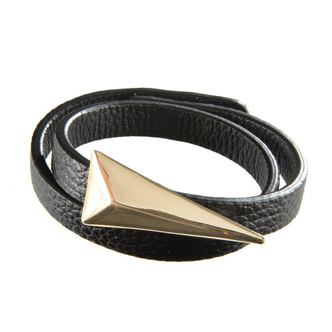 Leather Wrap Bracelet Featuring Arrow