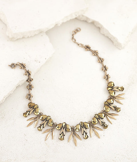 Gold Sprig Statement Necklace
