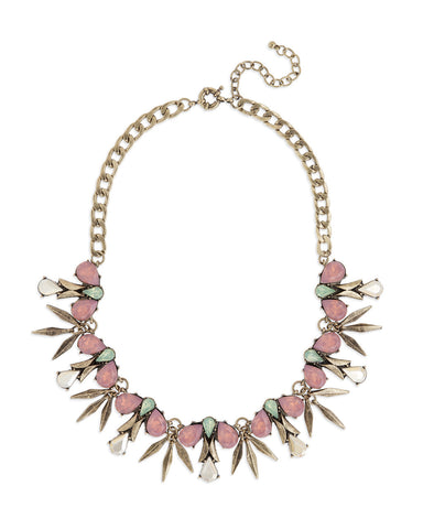 Pink Sprig Necklace