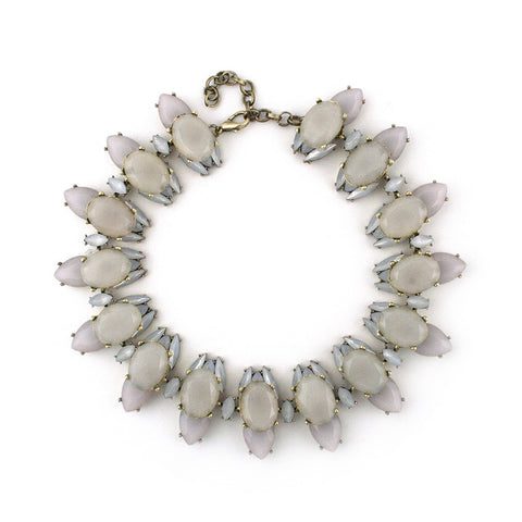 Muted Pastel Gemmed Statement Necklace