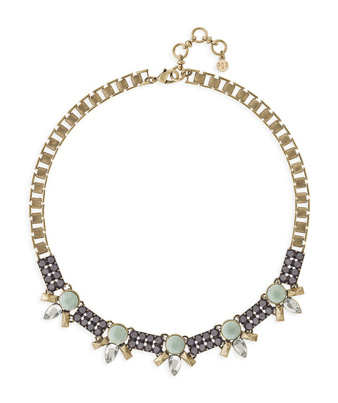 Mint and Grey Statement Necklace