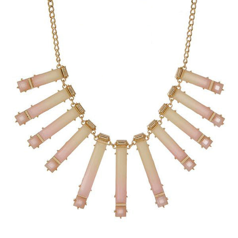 Pink and Gold Multi Pendant Necklace