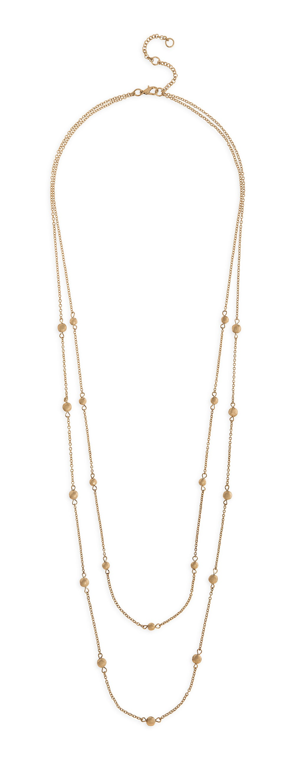 Gold Dot Layered Necklace