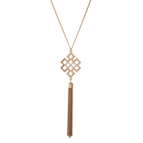 Diamond Cut-Out Necklace in Gold