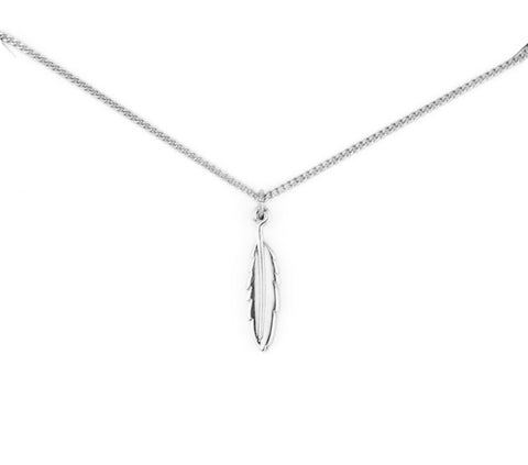 Feather Necklace (Platinum Plated)