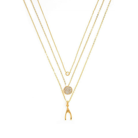 Wishbone Trio Necklace