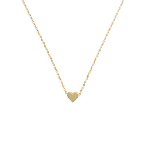 Tiny Heart Necklace in 18K Gold Plating
