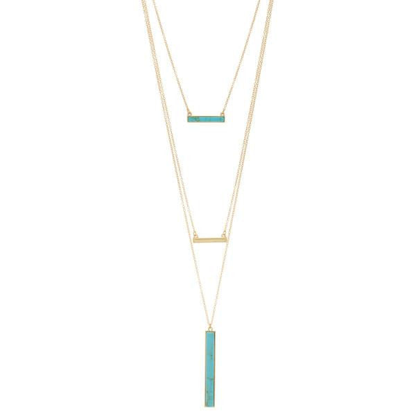 York Layered Necklace Set in Turquoise