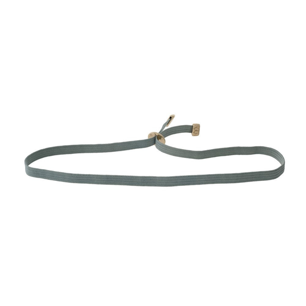 Simple grey elastic choker