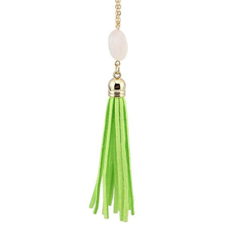 Everyday Stone Tassel in Green