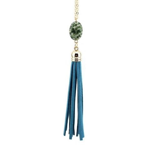 Everyday Stone Tassel in Dark Blue