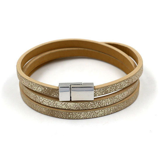 Metallic Wrap Bracelet in Gold