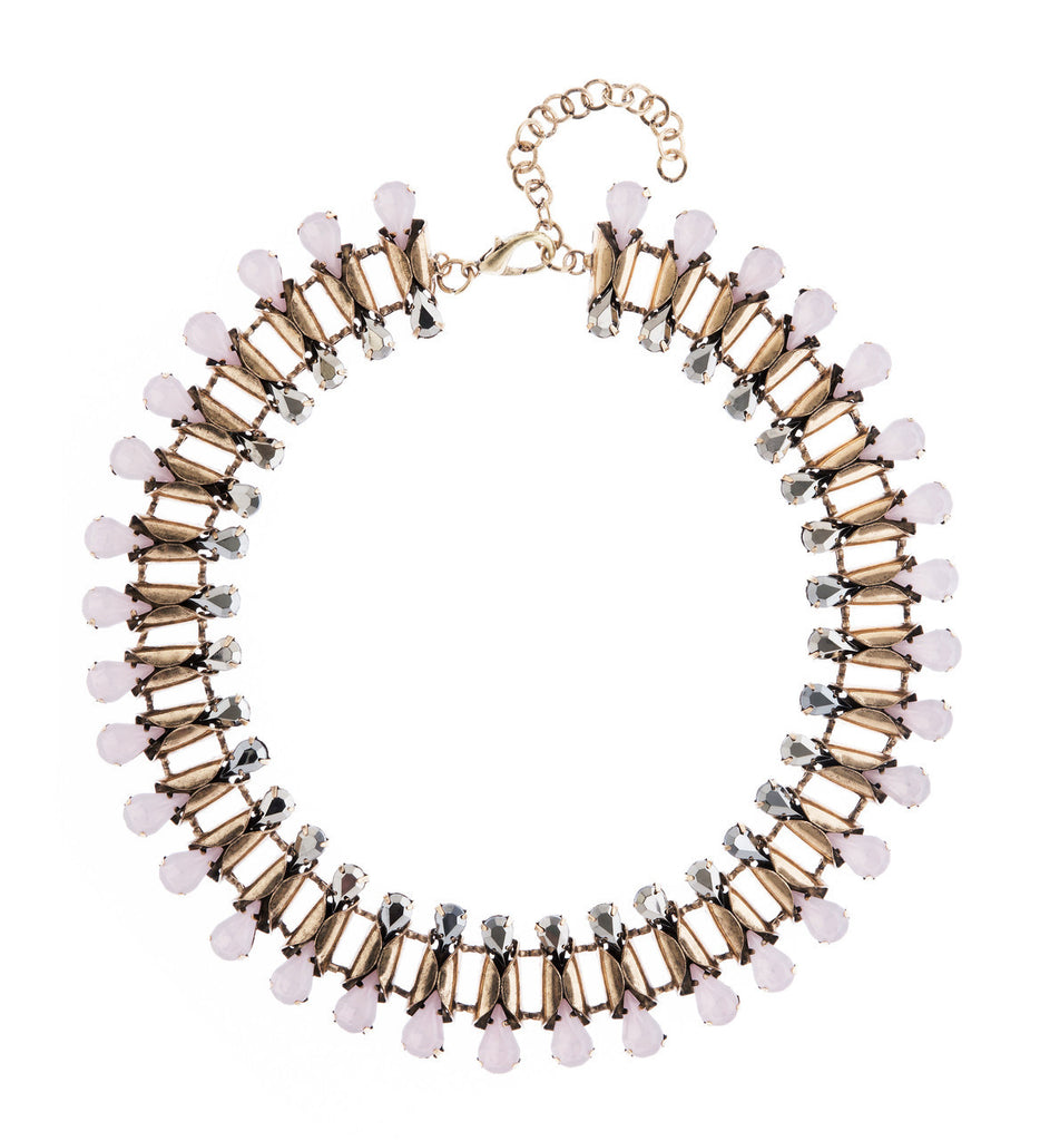 Pink and Silver Statement Necklace