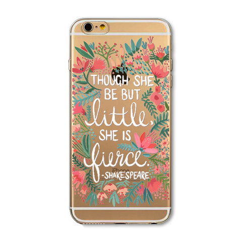 "iPhone 6s/6 Case - ""She is Fierce"" Clear"