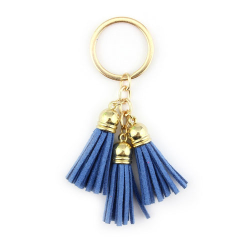 Tassel Keychain in Dark Blue