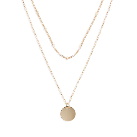 Gold Dot Duo Layered Necklace