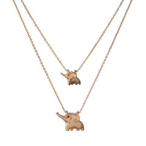 Elephant Pair Necklace