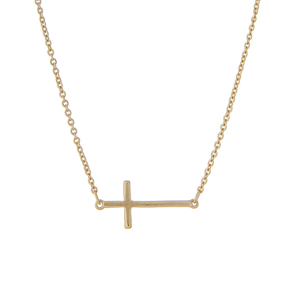 Dainty Gold Cross Necklace