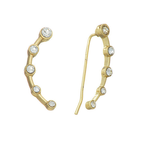 Gold Constellation Earrings Crawlers
