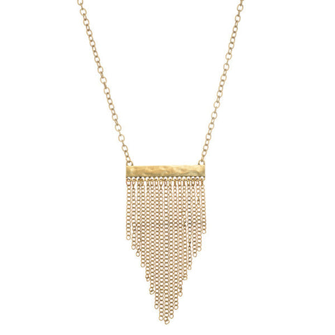 Bar Tassel Necklace
