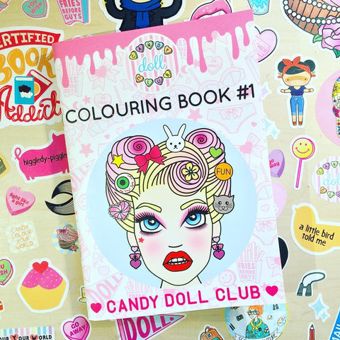 Candy Doll Club Colouring Book #1