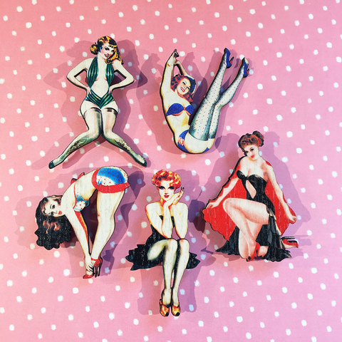 Mystery Pinup Brooches