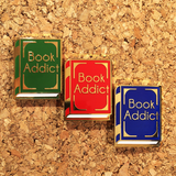 Book Addict Enamel Pins