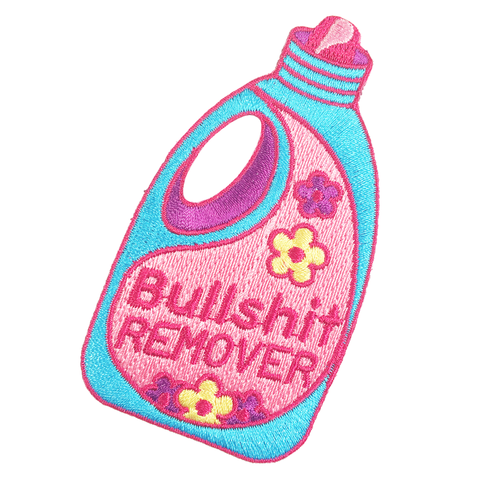 Bullshit Remover iron-on Patch