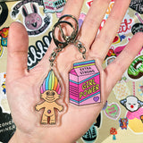 Retro Doll Keyrings