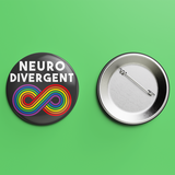 Neurodivergent button badge