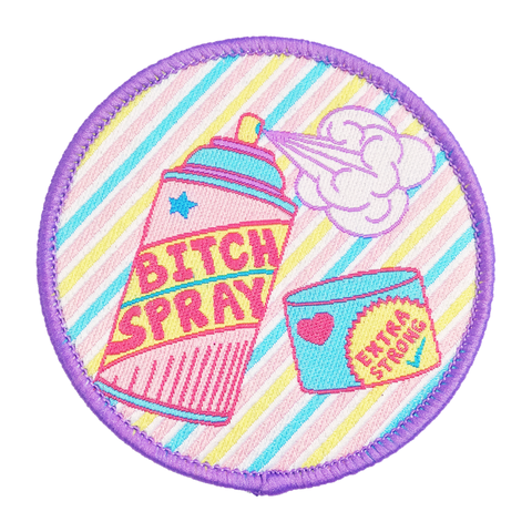 Bitch Spray iron-on Patch