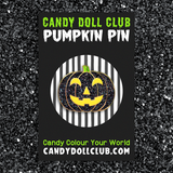 Sparkly Pumpkin Hard Enamel Pins