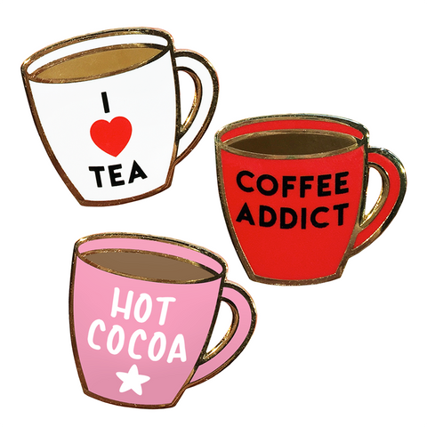 Hot Drink Hard Enamel Pins