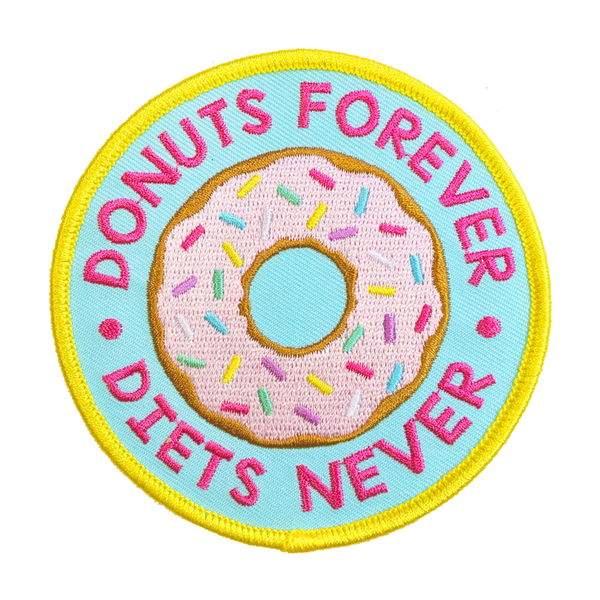 Donuts Forever iron-on Patch