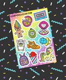 90s Kid Sticker Sheet
