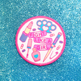 Fight Like A Girl iron-on Patch