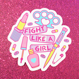 BIG Fight Like a Girl Vinyl Sticker